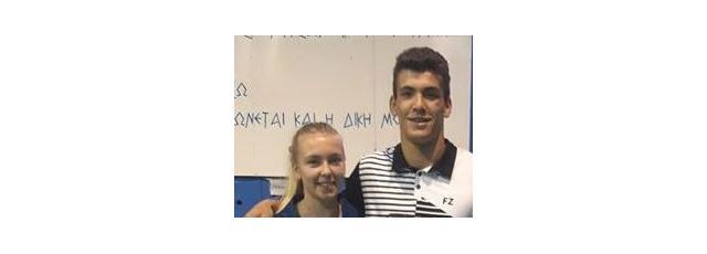 Sharone Bauer et William Villeger à l'Open de Grèce.