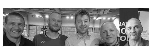 Stephan Bitz, Julien Fuchs, Daniel Dahlen, Alex Fabricius et Jean Frédéric Massias aux championnats de France vétérans.