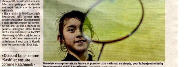 Kelly BENCHONPANITH aux championnats de France.