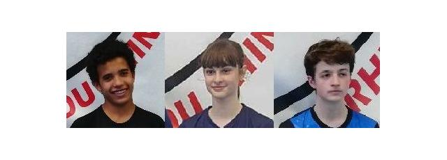 Maxime ASSANI, Elsa Felber et Raphaël Thomas au tournoi du VDR