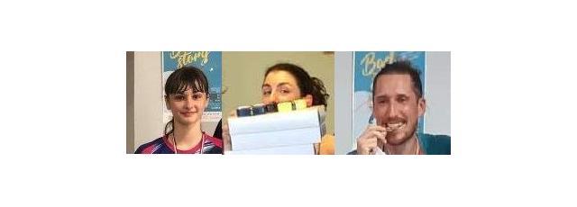 Elsa Felber, Floriane Dubois et Jonathan Muller au tournoi Badstory d'Illkirch