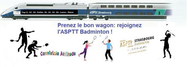 Prenez le bon wagon : rejoignez l'ASPTT badminton